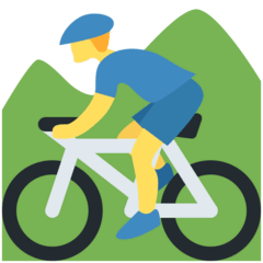 Man Mountain Biking Emoji on Twitter