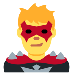 Man Supervillain Emoji on Twitter
