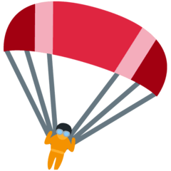 Parachute Emoji on Twitter
