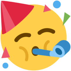 Partying Face Emoji on Twitter