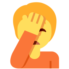 Person Facepalming Emoji on Twitter