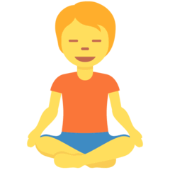 Person In Lotus Position Emoji on Twitter
