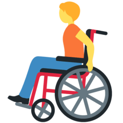 Person In Manual Wheelchair Emoji on Twitter