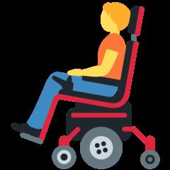 Pessoa em cadeira de rodas elétrica Emoji Twitter