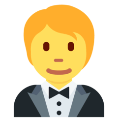 Person In Tuxedo Emoji on Twitter
