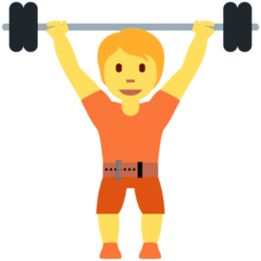 Person Lifting Weights Emoji on Twitter
