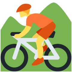 Mountainbiker(in) Emoji Twitter