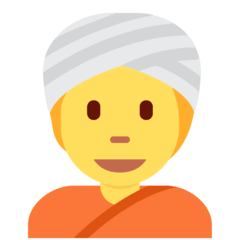 Person mit Turban Emoji Twitter