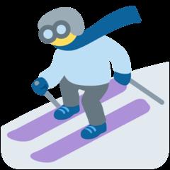 Лыжник Эмодзи в Twitter