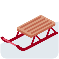 Sled Emoji on Twitter