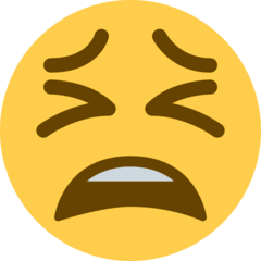 Tired Face Emoji on Twitter