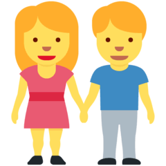 Woman And Man Holding Hands Emoji on Twitter