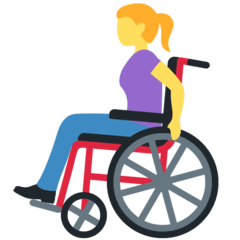 Woman In Manual Wheelchair Emoji on Twitter