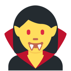 Woman Vampire Emoji on Twitter