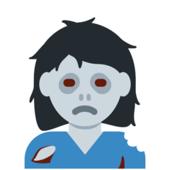 Woman Zombie Emoji on Twitter