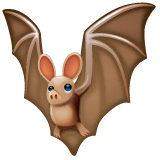 Bat Emoji on WhatsApp