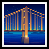 Bridge at Night Emoji on WhatsApp