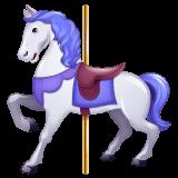 Cavallo della giostra Emoji WhatsApp