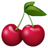 Cherries Emoji on WhatsApp