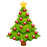 Christmas Tree Emoji on WhatsApp