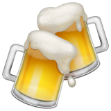 Clinking Beer Mugs Emoji on WhatsApp