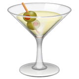 Cocktail Glass Emoji on WhatsApp