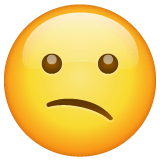 Confused Face Emoji on WhatsApp