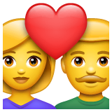 Couple With Heart: Woman, Man Emoji on WhatsApp