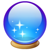 Crystal Ball Emoji on WhatsApp