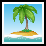 Desert Island Emoji on WhatsApp