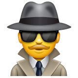 Detektiv(in) Emoji WhatsApp