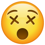 Dizzy Face Emoji on WhatsApp