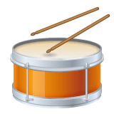 Drum Emoji on WhatsApp