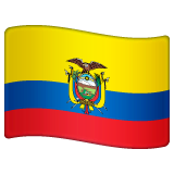 Bandeira do Equador Emoji WhatsApp