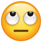 Face With Rolling Eyes Emoji on WhatsApp
