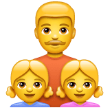 Family: Man, Girl, Girl Emoji on WhatsApp