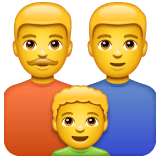 Family: Man, Man, Boy Emoji on WhatsApp
