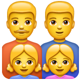 Family: Man, Man, Girl, Girl Emoji on WhatsApp