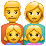 Family: Man, Woman, Girl, Girl Emoji on WhatsApp