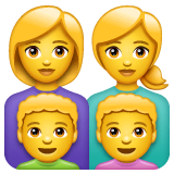 Family: Woman, Woman, Boy, Boy Emoji on WhatsApp
