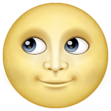 Full Moon Face Emoji on WhatsApp
