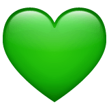 Green Heart Emoji on WhatsApp