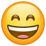 Grinning Face With Smiling Eyes Emoji on WhatsApp