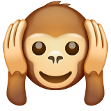 Hear-no-evil Monkey Emoji on WhatsApp