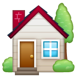 House With Garden Emoji on WhatsApp