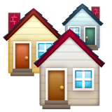 Houses Emoji on WhatsApp