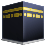 Kaaba Emoji on WhatsApp