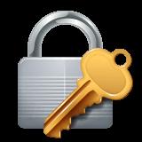 Cadeado fechado com chave Emoji WhatsApp