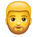 Bärtige Person Emoji WhatsApp