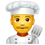 Chef uomo Emoji WhatsApp